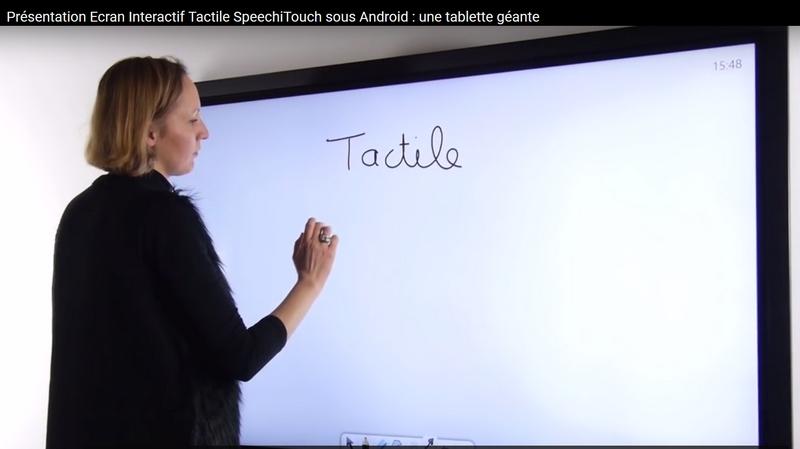 ecran interactif speechi touch